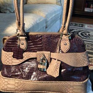 Handbags - Purple leather bag Gently used